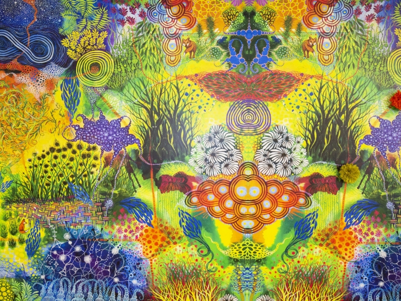FaceBook mural, detail