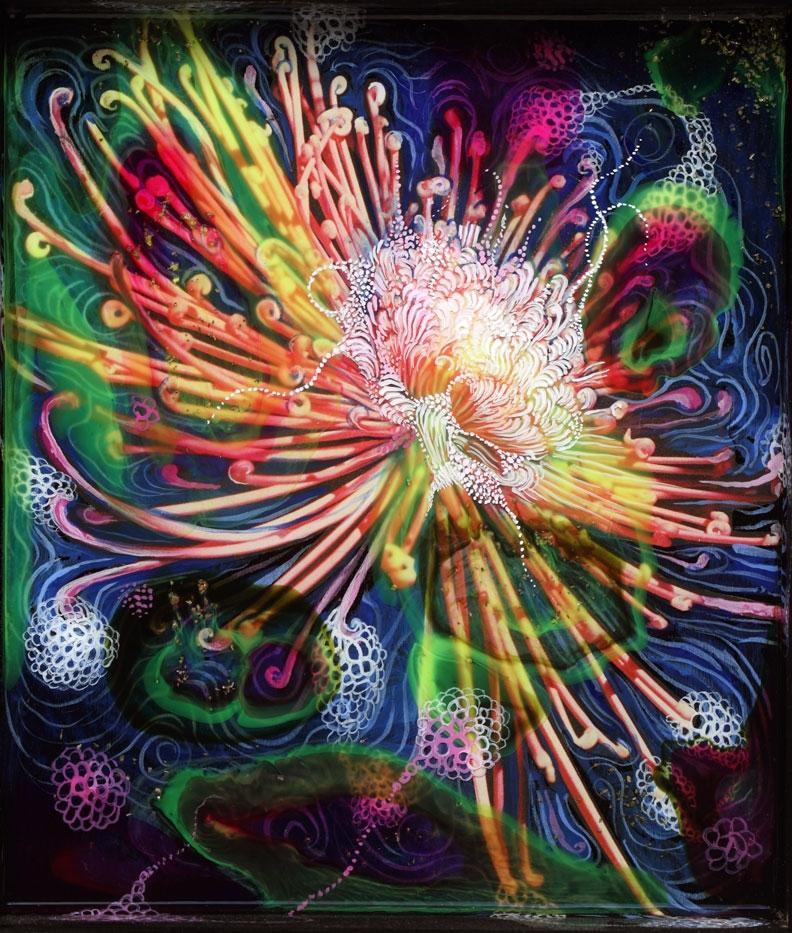 Cosmic Chrysanthemum, detail